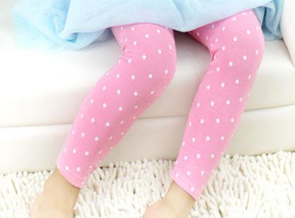 Trendy Polka Dot Legging - Light Pink - Jazzy Snazzy