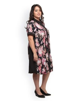 Curve Printed Shirt Dress - XNY