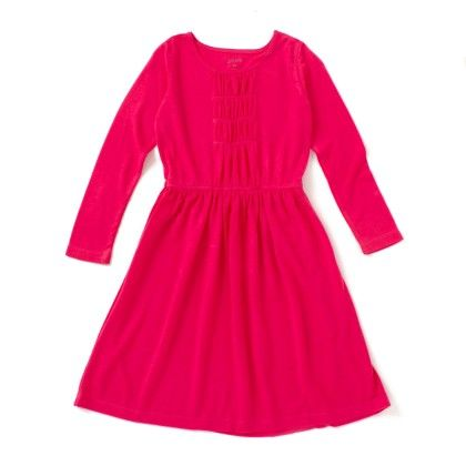 Pink Ruched Polyester Dress - SBUYS