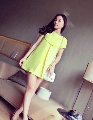 Beautiful Yellow Tunic Dress - Mauve Collection