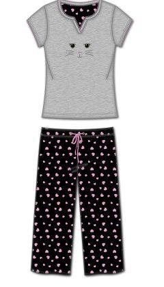 2 Pc Tshirt With Capri Pant Pj - Multi - Rene Rofe