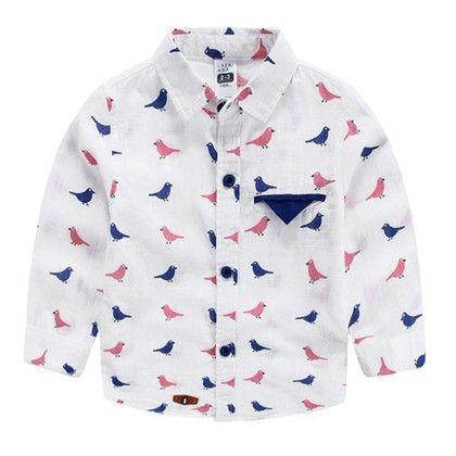 Bute Bird Print Shirt - Mauve Collection