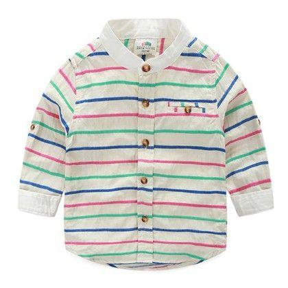Stripe Style Classic Line Shirt - Mauve Collection