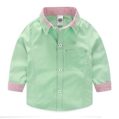 Beautiful Green Linen Cotton Shirt - Mauve Collection
