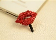 Red Lips Mobile Dust Plug - Flaunt Chic