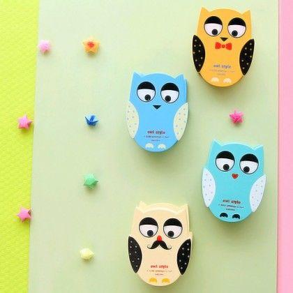 Vintage Owl Stapler Assorted 1 Unit - Tee-K-Dee