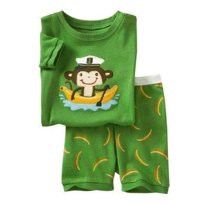 Green Monkey Print T-shirt & Short Set - Lil Mantra