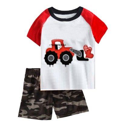 White Handsome Like Dad Print T-shirt & Short Set - Lil Mantra