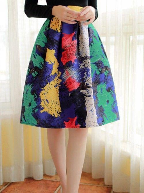 Multi Print Skirt - Mauve Collection