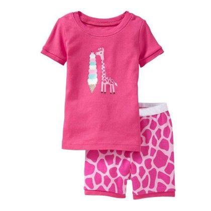 Pink Giraffe Print T-shirt & Short Set - Lil Mantra