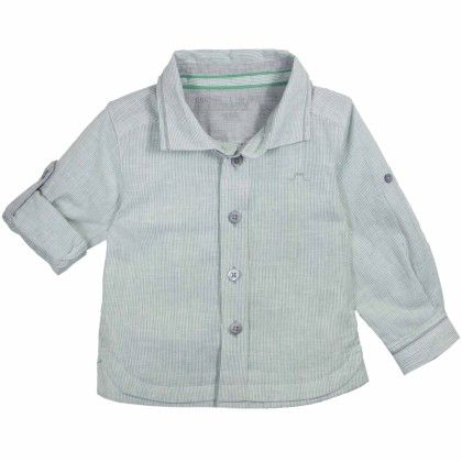 Louis Boy Shirt Dark Gray Stripe - Chateau De Sable