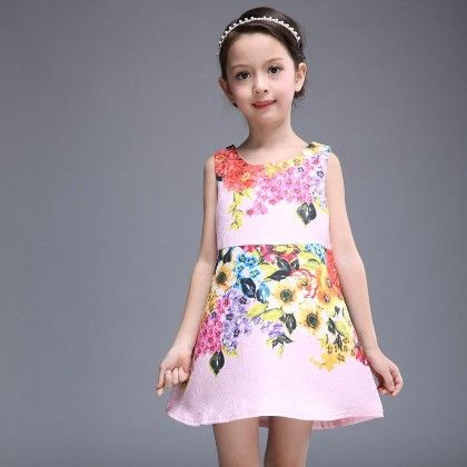 Beautiful Floral Print Dress - Pink - Mitun