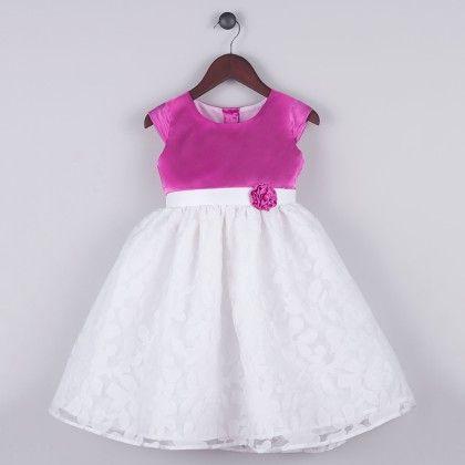 Pink And White Lizzy Floral Dress - Joe Ella