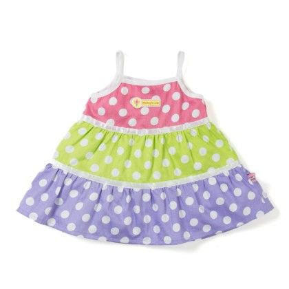 Dotted All Over Spagetty Girls Dress - TOFFYHOUSE