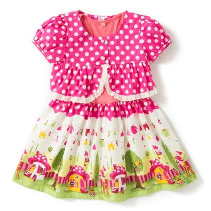 Pink Dress With Coat - De Berry