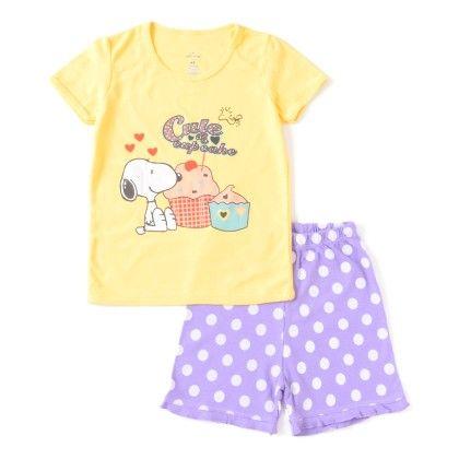 Yellow Cupcake Print T-shirt & Shorts Set - Lil Mantra