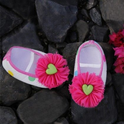 A Potpourri Of Flowers Hearts And Polka Dots Shoes For Baby Girls - D'chica