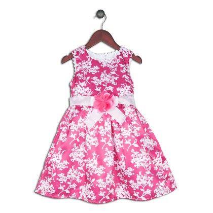 Fuchsia Margaret Floral Dress - Joe Ella