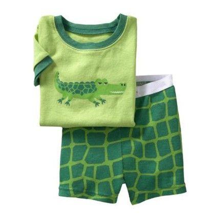 Green Wild Animal Print T-shirt & Short - Lil Mantra