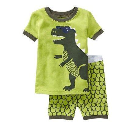 Green Dinosaur Print T-shirt & Short Set - Lil Mantra