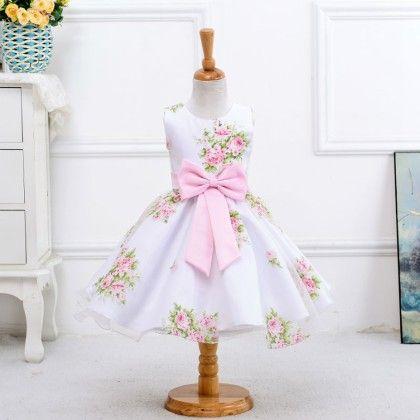 Pink Flower Girl Dress For Wedding Girls Party - Tulip