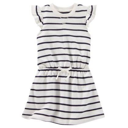Flutter Sleeve Dress Yarn Dye Stripe 115 - OshKosh B'gosh