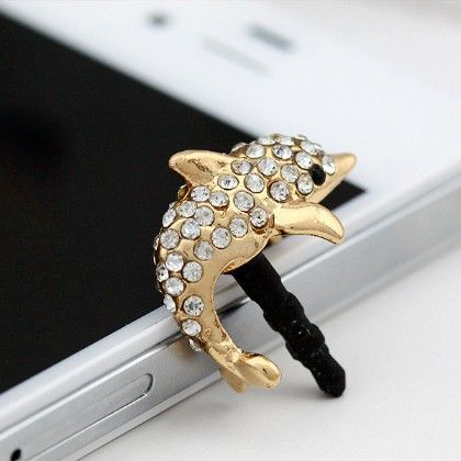Dolphin Mobile Dust Plug - Flaunt Chic