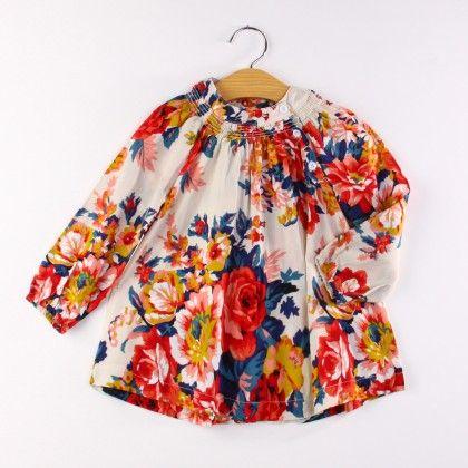 Multi Floral Print Dress - AWBOX