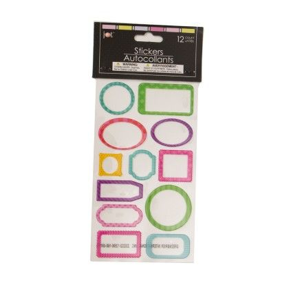 Autocollant Stickers - Plain Assorted Shapes - It's All About Me