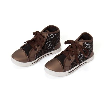 Printed High Ankle Lace Tie Up Shoes - Brown - Seven Rainbows