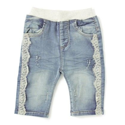 Jeans With Lace - White - O2