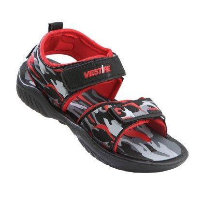 Boys Sandals In Black And Red - Vestire