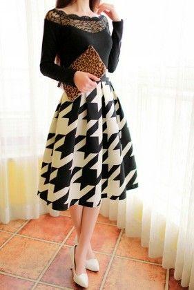 Vintage High Waist Pleated Midi Skirt - Mauve Collection