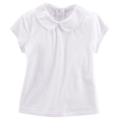 Peter Pan Collar Top Wh10414 White - OshKosh B'gosh