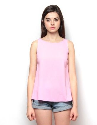 Bow At Back Pink Top - XNY