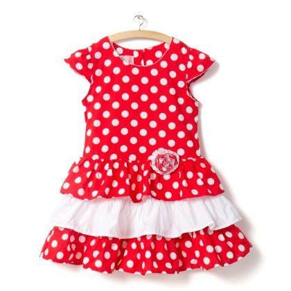 Red Polka Dot Dress - Little Princess