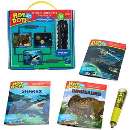 Hot Dots Jr. Ultimate Science Facts Interactive Book Set With Talking Pen - Learning Resources