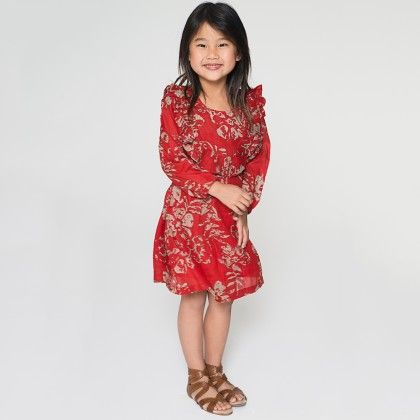 Floral Ruffle Dress - Toddler & Girls - Yo Baby