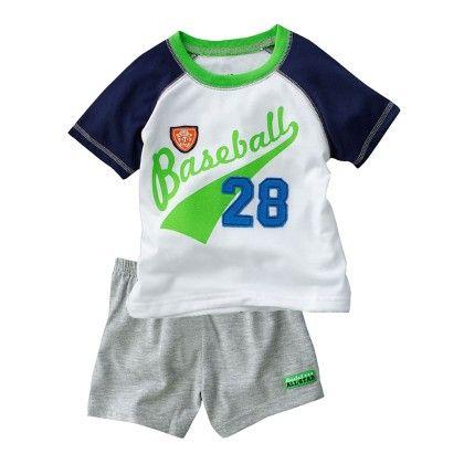 Baseball Print T-shirt And Shorts - 2 Pcs Set - Multi - Jumping Baby