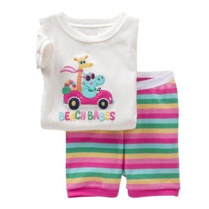 White Beach Babes Print T-shirt & Short Set - Lil Mantra