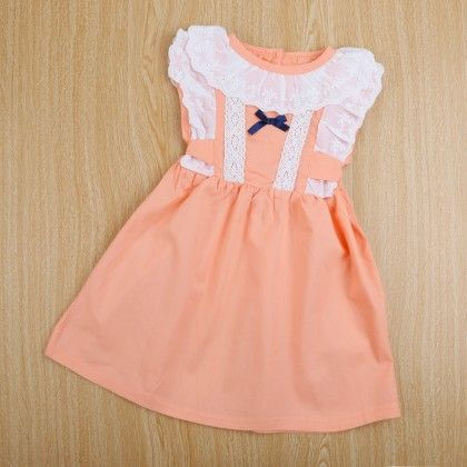 Cute Pink Dress With Ruffle Sleeves - Boat