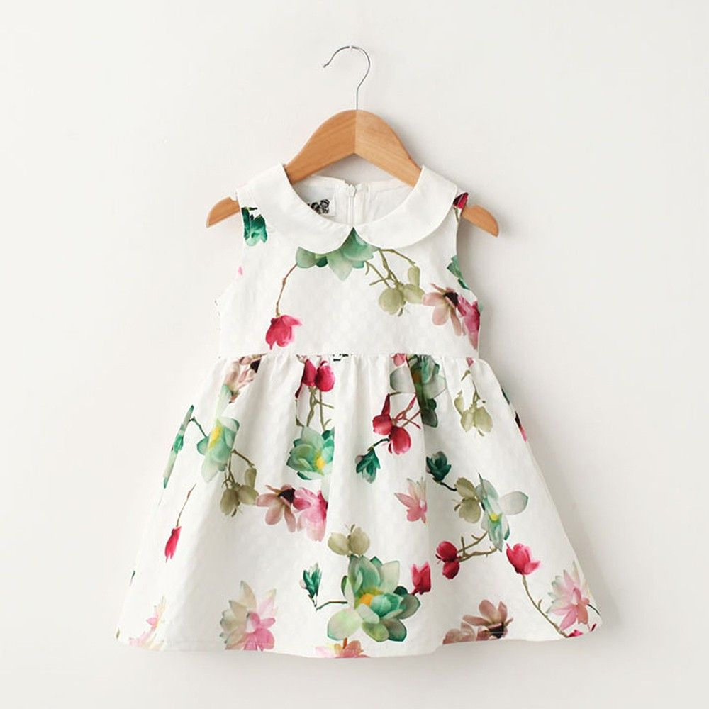 White Floral Print Dress - Lil Mantra