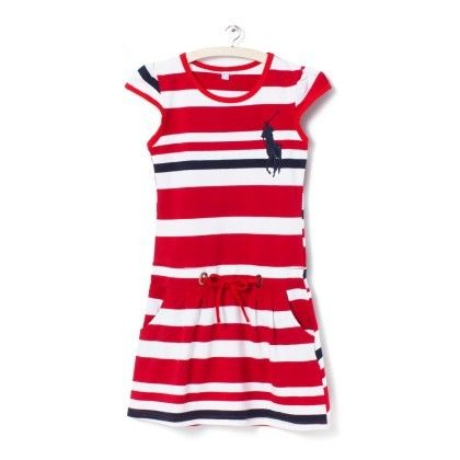 Red And White Stripes Dress - Party Princess