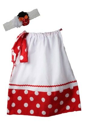 White & Red Polka Dotted Dress - Dress Up Dreams