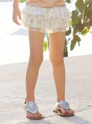 Beautiful Shorts With Attached Tutu Skirt - Gray - Pink Ideal