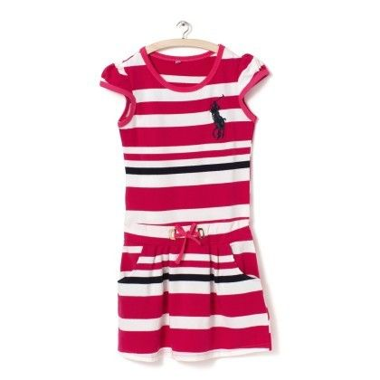 Pink And White Stripes Dress - Party Princess