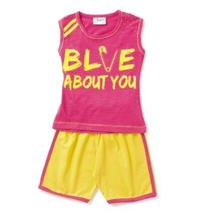 Fuchsia Blve About You T-shirt & Short Set - Eteenz