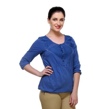 Exclusive Cotton Knitted Printed Tops Awwl1018 - Riti Riwaz