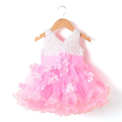 Pink All Over Flowers Dress - My Princess