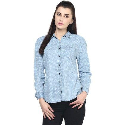Printed Polka Shirt - SBUYS